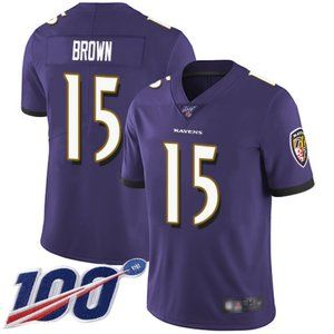Baltimore Ravens Marquise Brown 100th Jersey